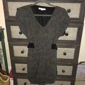 BCBGeneration Gray Belted Mini Dress size S